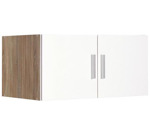 NÁSTAVEC NA SKŘÍŇ, bílá, barvy dubu - bílá/barvy dubu, Design, kompozitní dřevo/umělá hmota (80/40/54cm) - Xora
