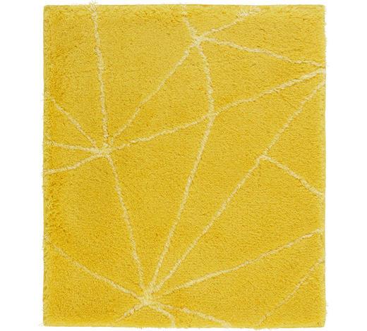 BADTEPPICH in Gelb 55/65 cm - Gelb, Design, Kunststoff/Textil (55/65cm) - Kleine Wolke
