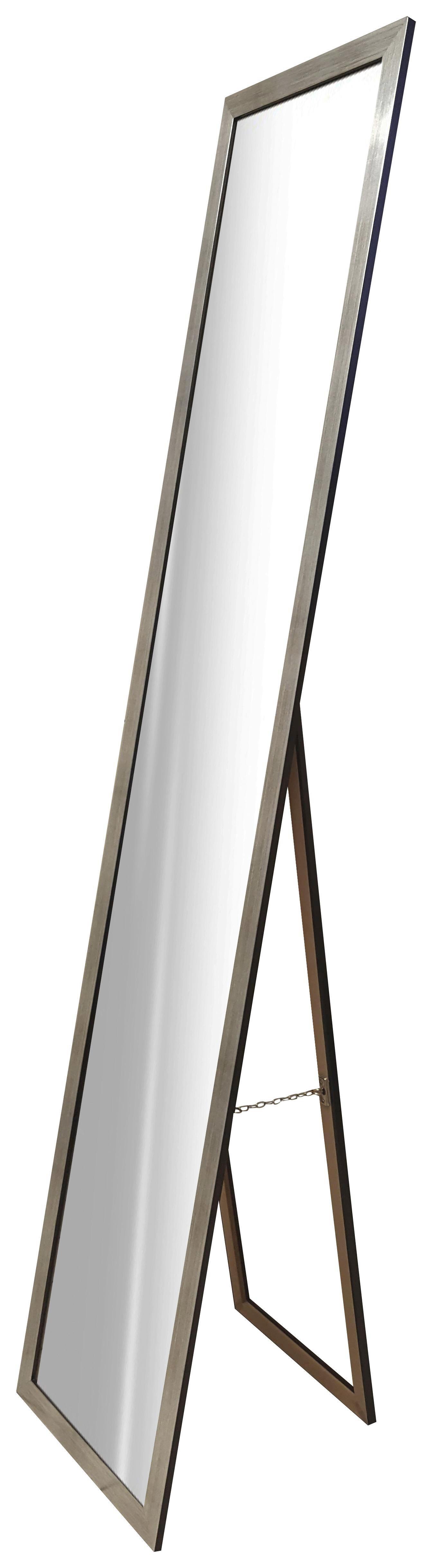 STOJACÍ ZRCADLO - barvy stříbra, Design, dřevěný materiál/sklo (36/175cm) - CARRYHOME