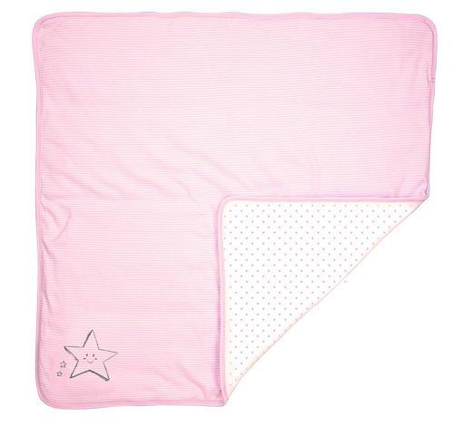 KRABBELDECKE 75/100 cm - Rosa/Weiß, Basics, Textil (75/100cm) - Patinio