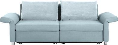 SCHLAFSOFA in Textil Hellblau - Schwarz/Hellblau, Design, Kunststoff/Textil (204/242/81/103cm) - Venda
