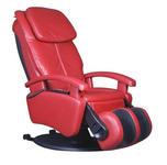 MASSAGESESSEL Kombination Echtleder/Stoff Rot - Rot/Schwarz, Design, Leder/Kunststoff (72/128/175cm) - Cantus