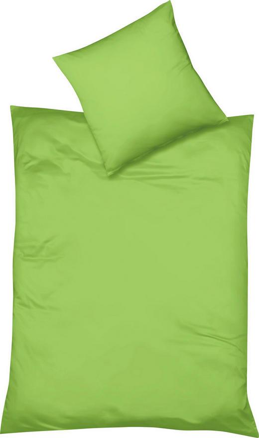 BETTWÄSCHE Makosatin Grün 155/220 cm - Grün, Basics, Textil (155/220cm) - FLEURESSE