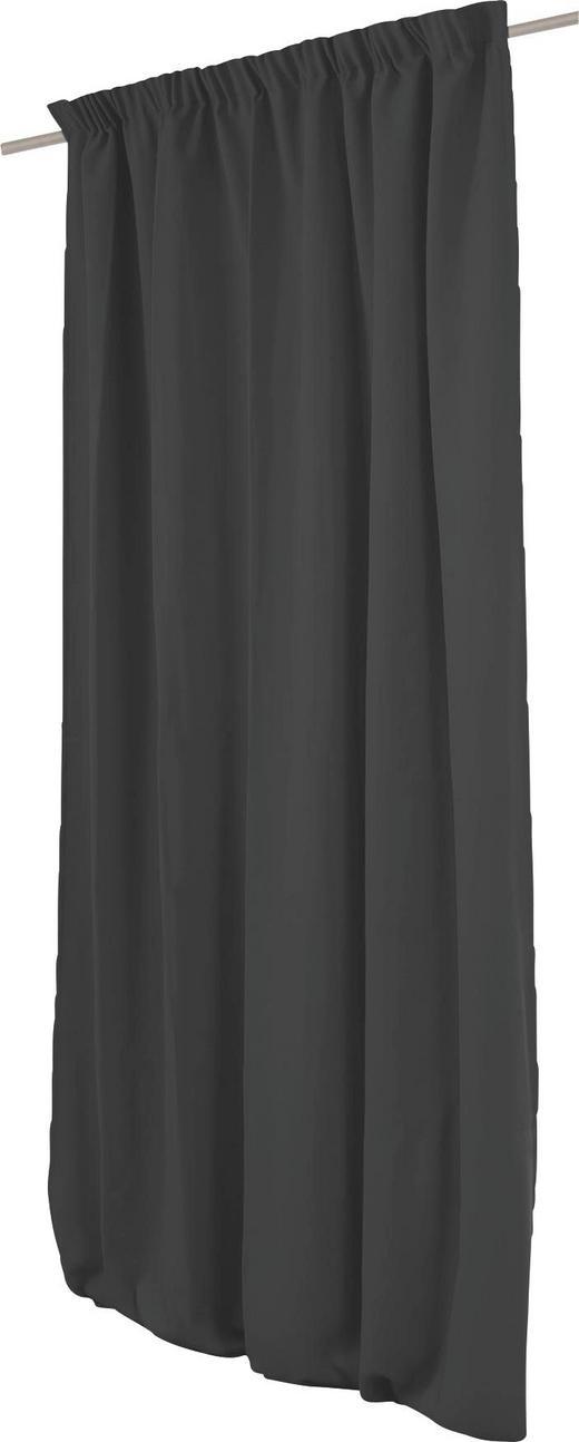 WÄRMESCHUTZVORHANG  Verdunkelung  145/260 cm - Anthrazit, MODERN, Textil/Metall (145/260cm)
