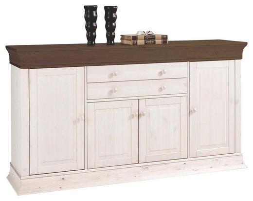 SIDEBOARD Kiefer massiv lackiert Dunkelbraun, Weiß - Dunkelbraun/Weiß, Design, Holz (181/100/45cm) - Carryhome