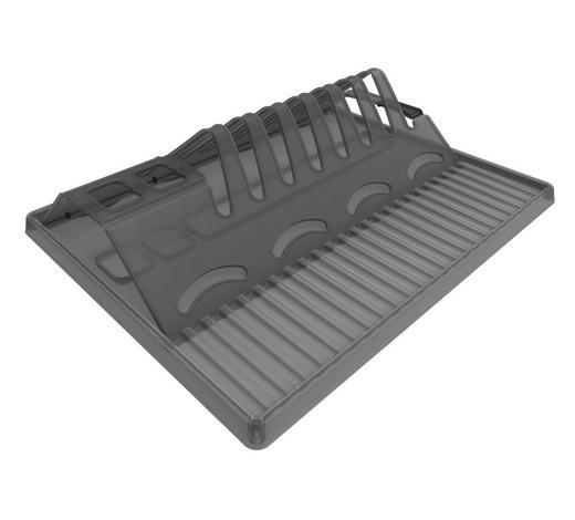 GESCHIRRABTROPFKORB - Anthrazit, Basics, Kunststoff (32/2/39cm) - Rotho