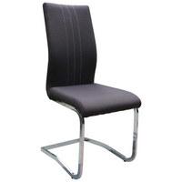 STOL, kovina, tekstil rjava  - bela/krom, Design, kovina/tekstil (43/100/59cm) - Boxxx