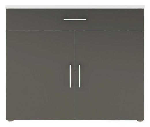KOMMODE Grau, Weiß - Chromfarben/Schwarz, Design, Holzwerkstoff/Kunststoff (100/84/40cm) - CARRYHOME