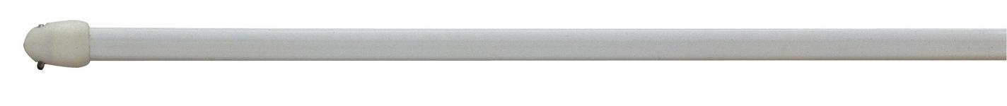 Vitragenstange Chromfarben - Silberfarben, KONVENTIONELL, Kunststoff/Metall (100cm) - Ombra