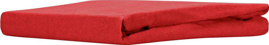 Spannleintuch Regina - Rot, MODERN, Textil (180/200cm) - Ombra