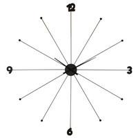 WANDUHR  Chromfarben, Schwarz - Chromfarben/Schwarz, Trend, Kunststoff/Metall (100/100/6cm) - Kare-Design
