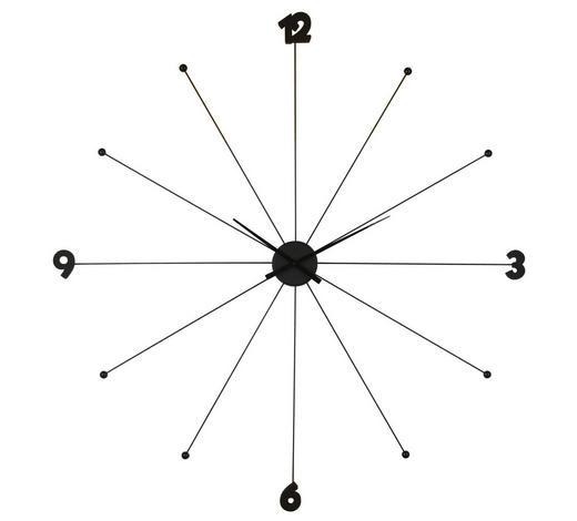 WANDUHR 100/100/6 cm   - Chromfarben/Schwarz, Trend, Kunststoff/Metall (100/100/6cm) - Kare-Design