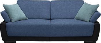 SCHLAFSOFA in Textil Anthrazit, Blau, Hellblau  - Chromfarben/Blau, Design, Holz/Textil (214/83/95cm) - Venda