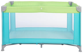 RESESÄNG - grön/ljusblå, Basics, metall/textil (125/65/74cm) - My Baby Lou