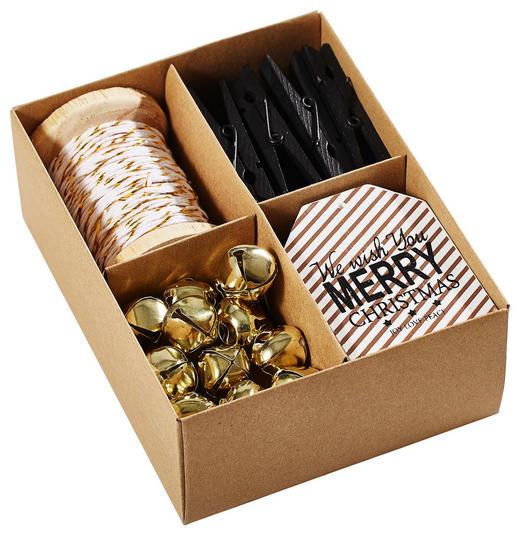 Geschenkeanhänger - Goldfarben/Weiß