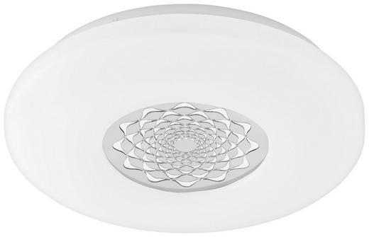 LED-DECKENLEUCHTE - Chromfarben/Weiß, Basics, Kunststoff/Metall (34/7cm)