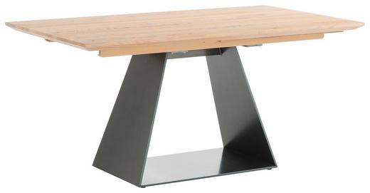 ESSTISCH in Holz, Metall 160/90/76 cm - Eichefarben/Schwarz, Natur, Holz/Metall (160/90/76cm) - Anrei