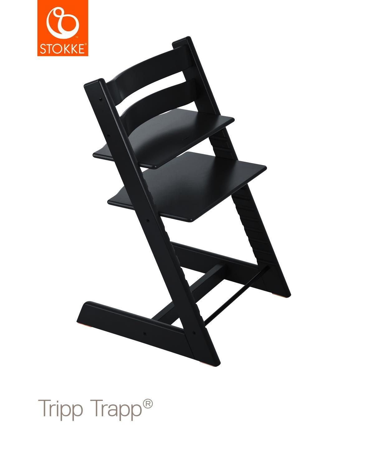 Tripp Trapp - svart, Basics, trä (46/79/49cm) - Stokke
