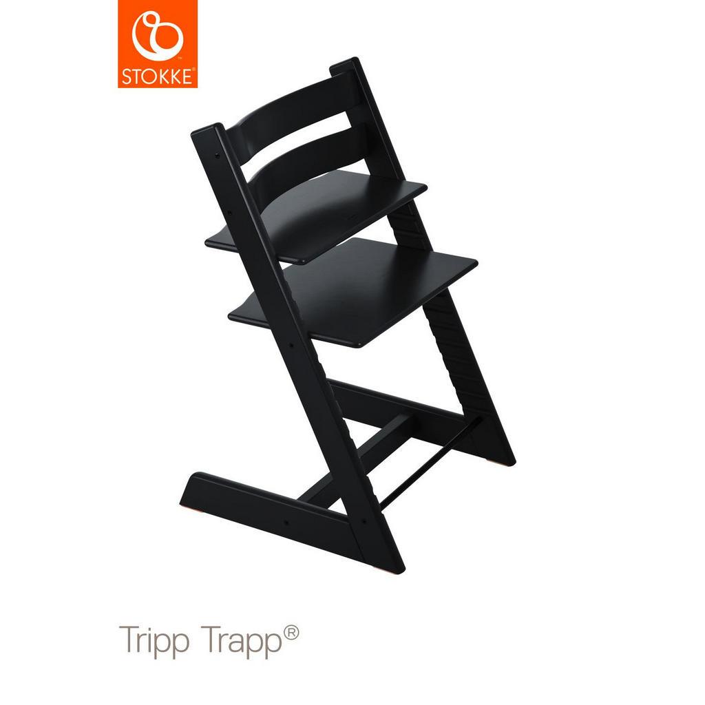 Stokke Tripp Trapp Hochstuhl Buche massiv, Hartholz Black, Schwarz | Kinderzimmer > Kinderzimmerstühle > Hochstühle | Holz | Stokke