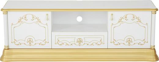 TV-ELEMENT - Goldfarben/Weiß, LIFESTYLE, Holzwerkstoff/Kunststoff (162/55/41cm) - Cantus