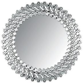 VÄGGSPEGEL - silver, Design, glas/träbaserade material (100cm) - Ambia Home