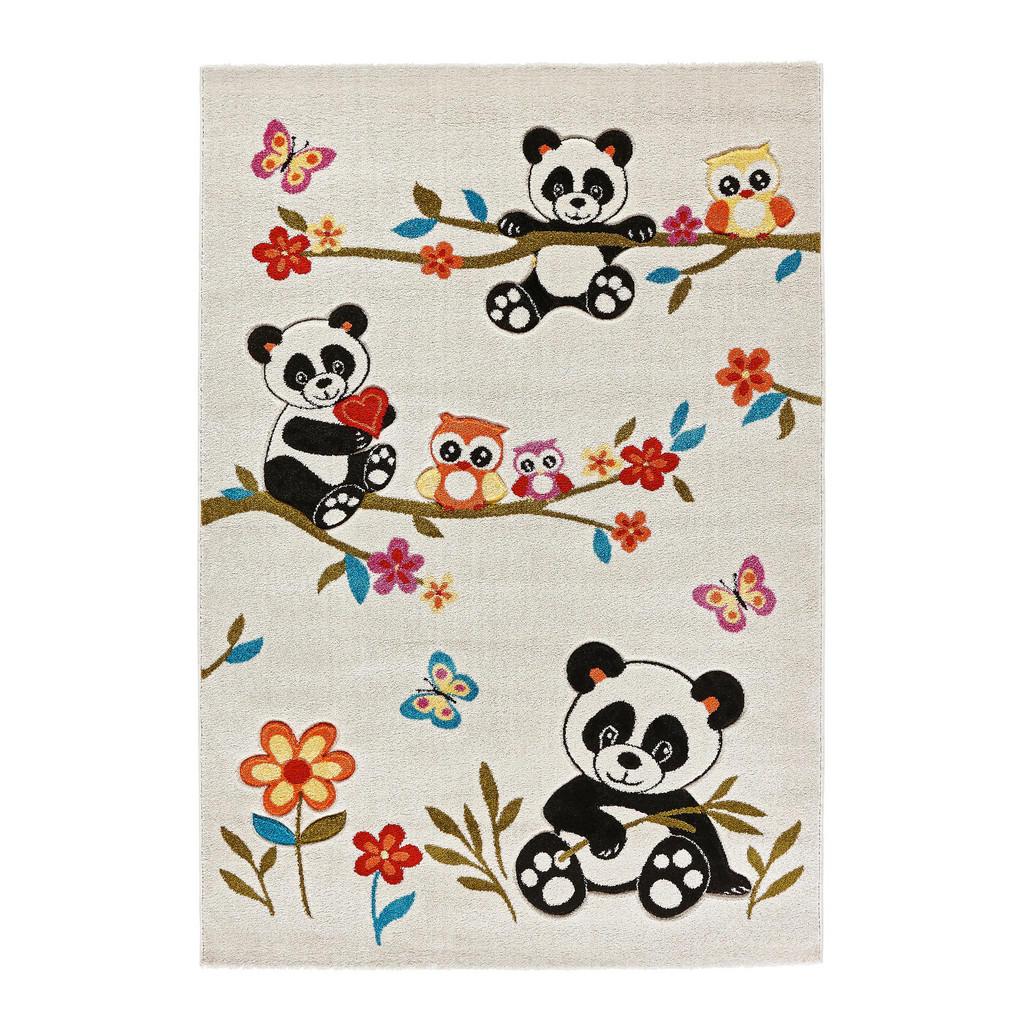 Kinderteppich mit Eulen und Pandas