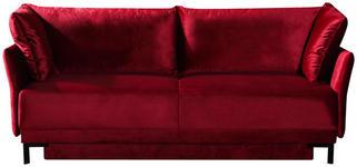 SCHLAFSOFA Bordeaux  - Bordeaux/Schwarz, KONVENTIONELL, Textil/Metall (220/97/104cm) - Novel