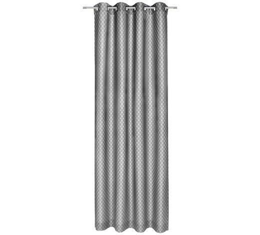 ÖSENSCHAL  blickdicht  140/250 cm   - Grau, Design, Textil (140/250cm) - Joop!