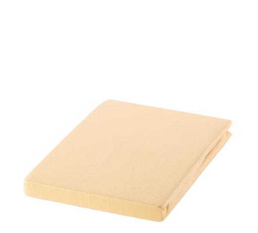 SPANNBETTTUCH Zwirn-Jersey Braun, Beige bügelfrei, für Wasserbetten geeignet  - Beige/Braun, Basics, Textil (200/200cm) - Estella