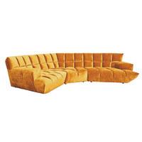 WOHNLANDSCHAFT in Textil Gelb - Gelb/Schwarz, Trend, Kunststoff/Textil (318/318cm) - Bretz