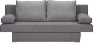 SCHLAFSOFA in Textil Anthrazit, Grau  - Anthrazit/Alufarben, Design, Kunststoff/Textil (190/74-86/80cm) - Carryhome