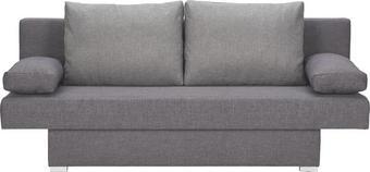 SCHLAFSOFA in Textil Anthrazit, Grau - Anthrazit/Silberfarben, Design, Kunststoff/Textil (190/74-86/80cm) - Carryhome