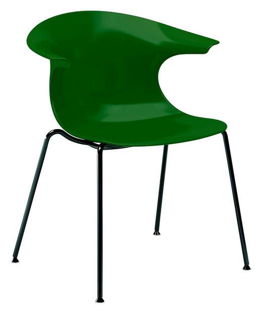 STUHL Grün, Schwarz - Schwarz/Grün, Design, Kunststoff/Metall (59,5/80/55cm)