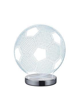 LED BORDSLAMPA - klar/kromfärg, Trend, metall/plast (20cm)