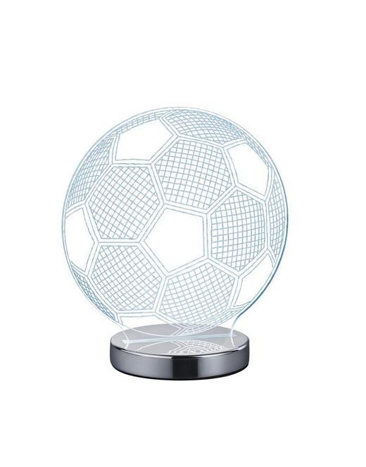 LED-TISCHLEUCHTE - Chromfarben/Klar, Trend, Kunststoff/Metall (20cm) - Boxxx