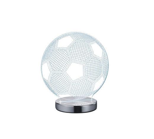 LED-TISCHLEUCHTE - Klar/Chromfarben, Trend, Kunststoff/Metall (20cm) - Boxxx
