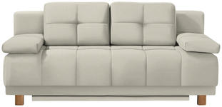BOXSPRINGSOFA in Textil Naturfarben  - Chromfarben/Naturfarben, MODERN, Textil/Metall (202/92/104cm) - Novel