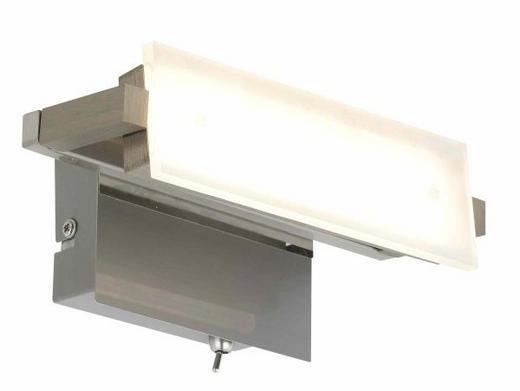 WANDLEUCHTE - Nickelfarben, Basics, Metall (20/12cm)