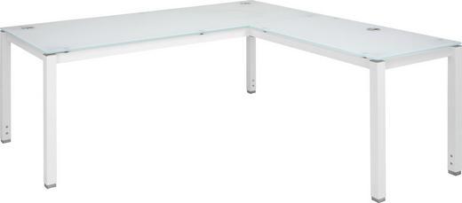 ECKSCHREIBTISCH Weiß - Weiß, Design, Glas/Metall (180/71,5/180cm)