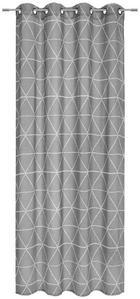 ÖSENVORHANG halbtransparent - Grau, Design, Textil (135/245cm) - Esposa