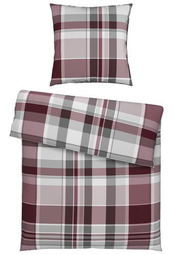 BETTWÄSCHE Flanell Bordeaux 135/200 cm - Bordeaux, Design, Textil (135/200cm) - Novel