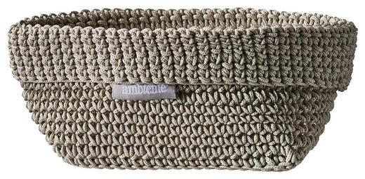 AUFBEWAHRUNGSBOX - Beige/Grau, Design, Textil (15/10/9cm) - Ambiente