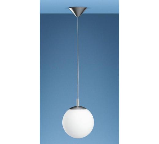 HÄNGELEUCHTE - Nickelfarben, KONVENTIONELL, Glas/Kunststoff (20/150cm)