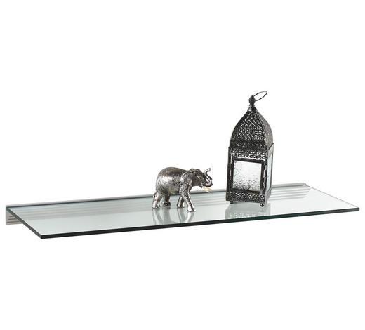 POLICE NÁSTĚNNÁ, průhledné - průhledné, Basics, sklo (90/30cm)