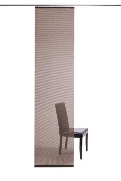 FLÄCHENVORHANG   transparent   60/245 cm - Kupferfarben, Design, Textil (60/245cm)