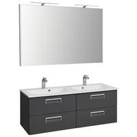 KOUPELNA - šedá/bílá, Design, kompozitní dřevo/sklo (133,2cm) - Dieter Knoll