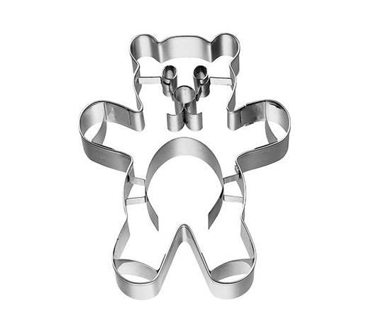 KEKSAUSSTECHFORM - Edelstahlfarben, Basics, Metall (8/10/2,5cm) - Birkmann