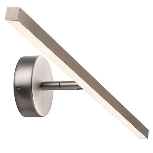 WANDLEUCHTE - Edelstahlfarben, Design, Kunststoff/Metall (60/11cm)
