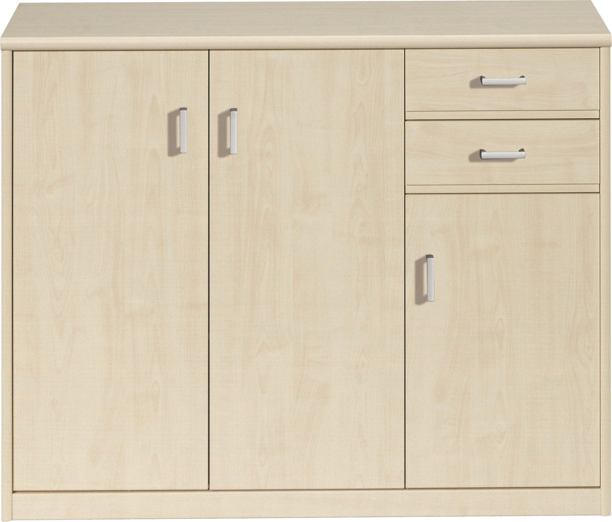 KOMMODE in Ahornfarben - Ahornfarben/Alufarben, KONVENTIONELL, Holzwerkstoff/Kunststoff (106/84/36cm) - CS SCHMAL