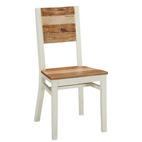 STOL, les, leseni material rjava, bela  - bela/rjava, Trendi, leseni material/les (59/98/46,5cm) - Landscape